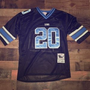 Barry Sanders throwback jersey Detroit lions